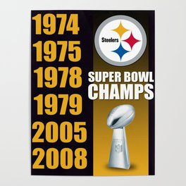 Steelers Champs Poster