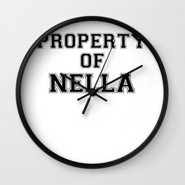 Property of NELLA Wall Clock