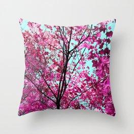 Autumn Pink Throw Pillow