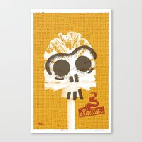 toilet Canvas Prints featuring Toilet Brush by YONIL