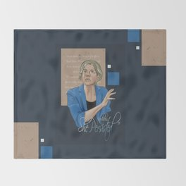 """Nevertheless, She Persisted"" Throw Blanket"