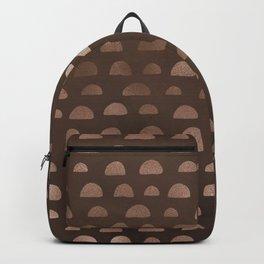 Brown Half Circles  Backpack