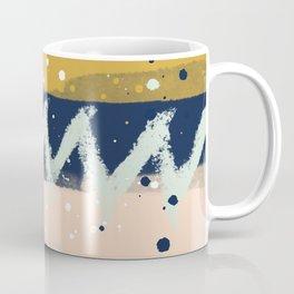 Gold, Mint, blush, Navy abstract  Coffee Mug