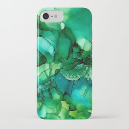Into the Depths of Sea Green Mysteries iPhone Case