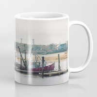 cape cod Mugs featuring Cape Cod Fishing Boat by ELIZABETH THOMAS Photography of Cape Cod