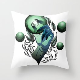 Witch Hand Throw Pillow
