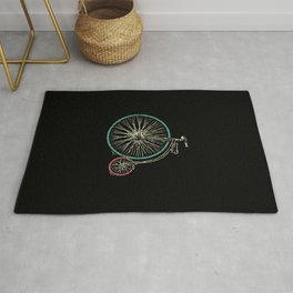 Cycling Forever   Penny Farthing High Wheel Rug