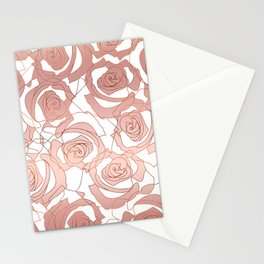Pour The Rosé - Roses Gold Copper Stationery Cards