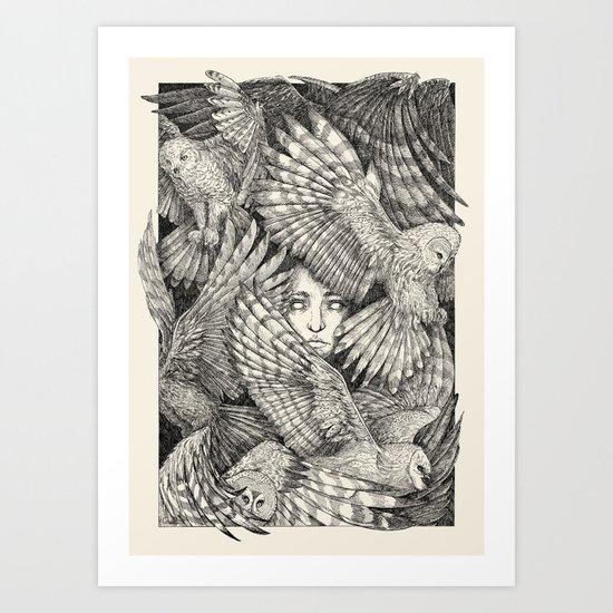Daughter of owls Art Print