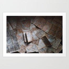 Maps On Maps Art Print