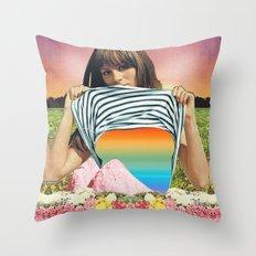 Internal Rainbow II Throw Pillow