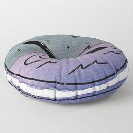 Watercolor Nessie Floor Pillow