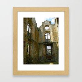 Shadow of Kirby Hall Framed Art Print