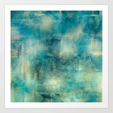 Blue, yellow ,white Art Print