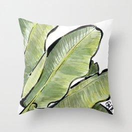 Palm Leaf No.2 Throw Pillow