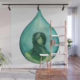 Tear Drop-Turquoise Wall Mural