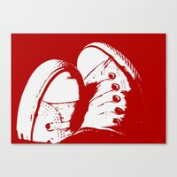 converse Canvas Prints featuring Converse by Dawn East Sider