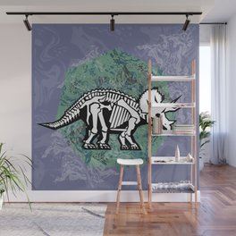 Triceratops Fossil Wall Mural