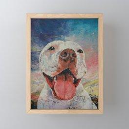 Pitbull Framed Mini Art Print