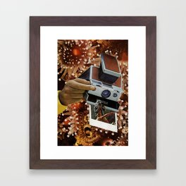 polaroids of polaroids Framed Art Print