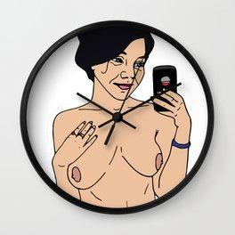 Nude babe #1 Wall Clock