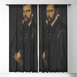 "Tintoretto (Jacopo Robusti) ""Portrait of a gentleman, three-quarter-length"" Blackout Curtain"