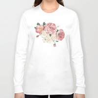 wwe Long Sleeve T-shirts featuring Watercolor rose by eARTh