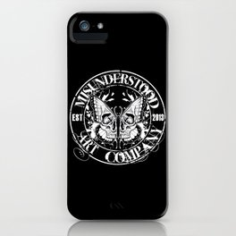 """MISUNDERSTOOD ART COMPANY """"LOGO"""" iPhone Case"""