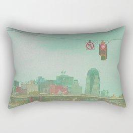 no left turn Rectangular Pillow