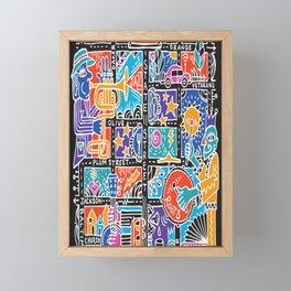 Media PA ARTmap- bright sound Framed Mini Art Print