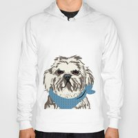 shih tzu Hoodies featuring Shih Tzu Dog Art by ialbert
