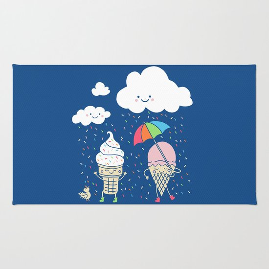 Cloudy With A Chance of Sprinkles Rug