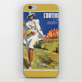 Vintage Italian Alps Cortina summer travel iPhone Skin