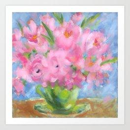 Teacup Pinks Art Print