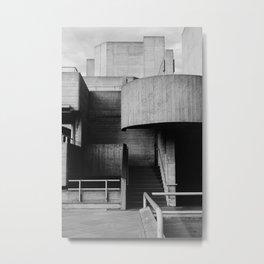 National Theatre | London |  United Kingdom by Sir Denys Lasdun Architect Metal Print