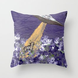 Abduction of the Delighted Lamb Throw Pillow