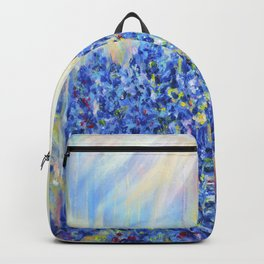 Lavender after the rain, flowers Backpack