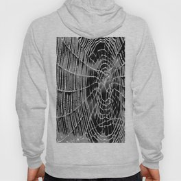 Black and White Spiders Web Hoody