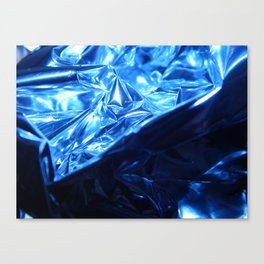 This Cold Elegance in Chrome Folds  Canvas Print