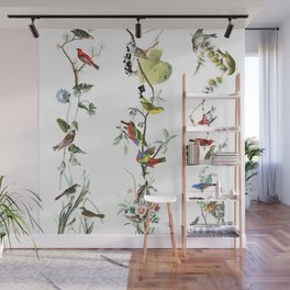 Birds - Art - Vintage - Pattern - Illustration - Nature Wall Mural