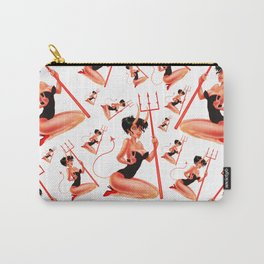 Devil Retro Pinup Pattern Carry-All Pouch