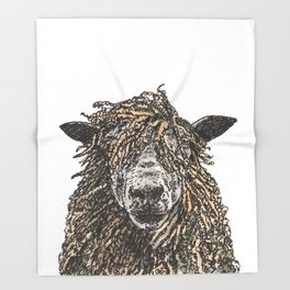 Cotswold Sheep Throw Blanket
