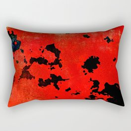 Red Modern Contemporary Abstract Textured Design Rectangular Pillow