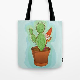 fairytale dwarf with cactus Tote Bag