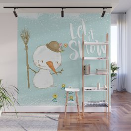 let it snow 5 Wall Mural