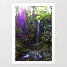 Waterfall in Narita, Japan Art Print
