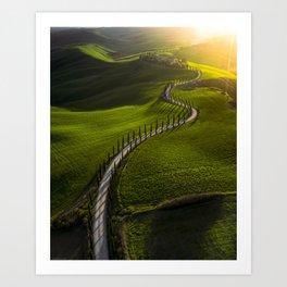 Above Tuscany Art Print
