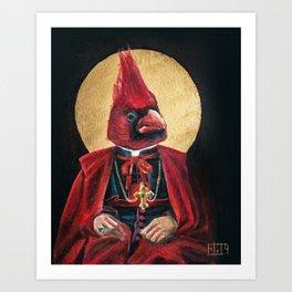 Cardinal Cardinal | Classic Renaissance Bird Painting Art Print