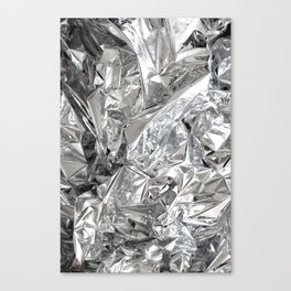 Silver Mylar Balloon Canvas Print