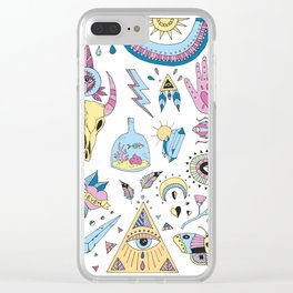 Wild things karma Clear iPhone Case